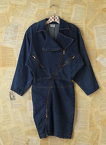 For an off-kilter feel, add this Free People vintage denim moto zip dress ($228) to your mix.