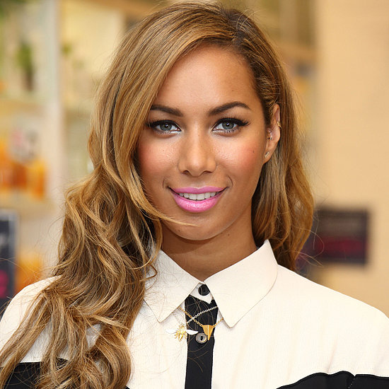 Leona Lewis Wears Bright Lipstick to Body Shop Event