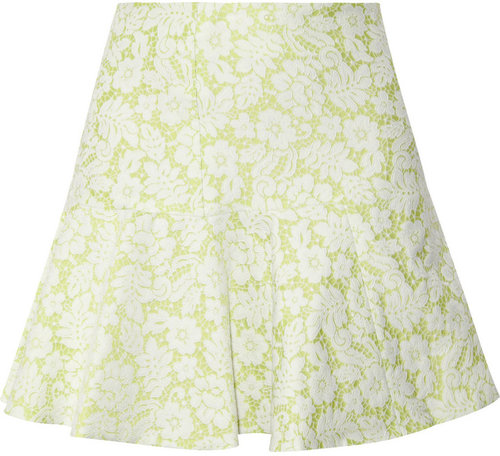 Helene Berman Flared jacquard mini skirt