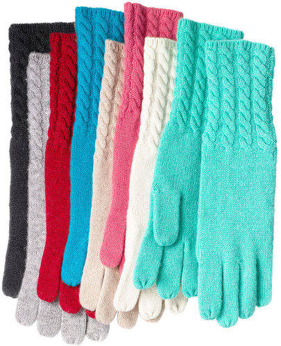Charter Club Gloves, Cable Knit Touch of Cashmere Cuff Gloves