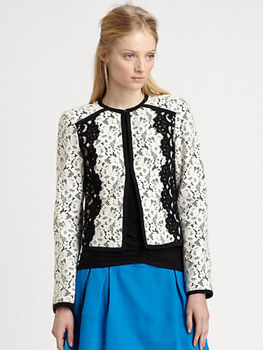 Nanette Lepore Spectacle Cropped Lace Jacket