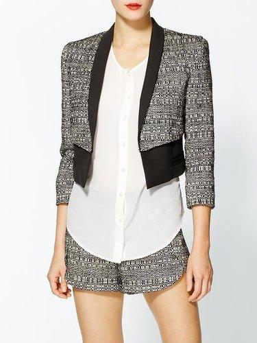 Robert Rodriguez Raffia Tweed Cropped Jacket