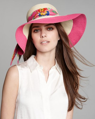 kate spade new york Blocked Straw Hat
