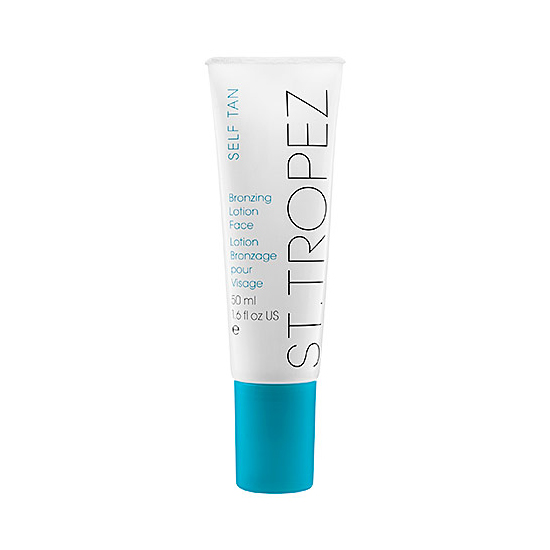 Since my skin is looking a little pale after a long Winter, I'll be reaching for St. Tropez Bronzing Face Lotion ($30) to get a faux glow in a flash. The beauty brand has even launched mini application mitts ($10 for three) so you're sure to be covered completely without the telltale streaks.  — Jessica Cruel