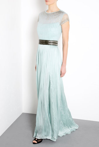 Catherine Deane Olga Shearing Tulle Bodice Maxi Dress
