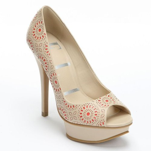 Elle peep-toe platform high heels - women