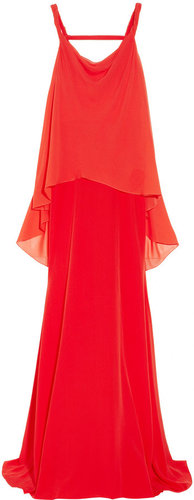 Vionnet Layered silk and silk-chiffon gown