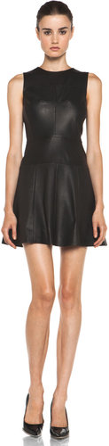 A.L.C. Cortney Leather Dress in Black
