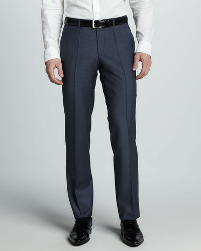 Hugo Boss Sharkskin Dress Pants, Blue