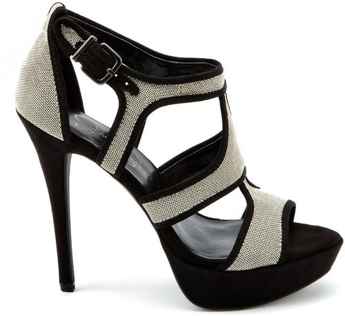 Bruno Silver Mesh High Heels