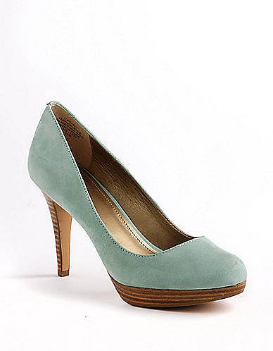 CIRCA JOAN & DAVID Pearly Suede Platform Pumps
