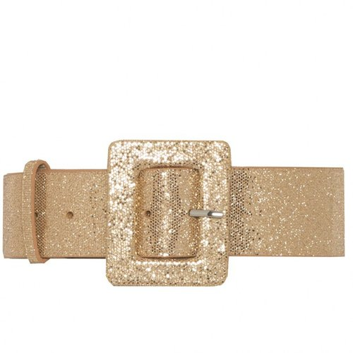 Glitter Square Buckle Belt