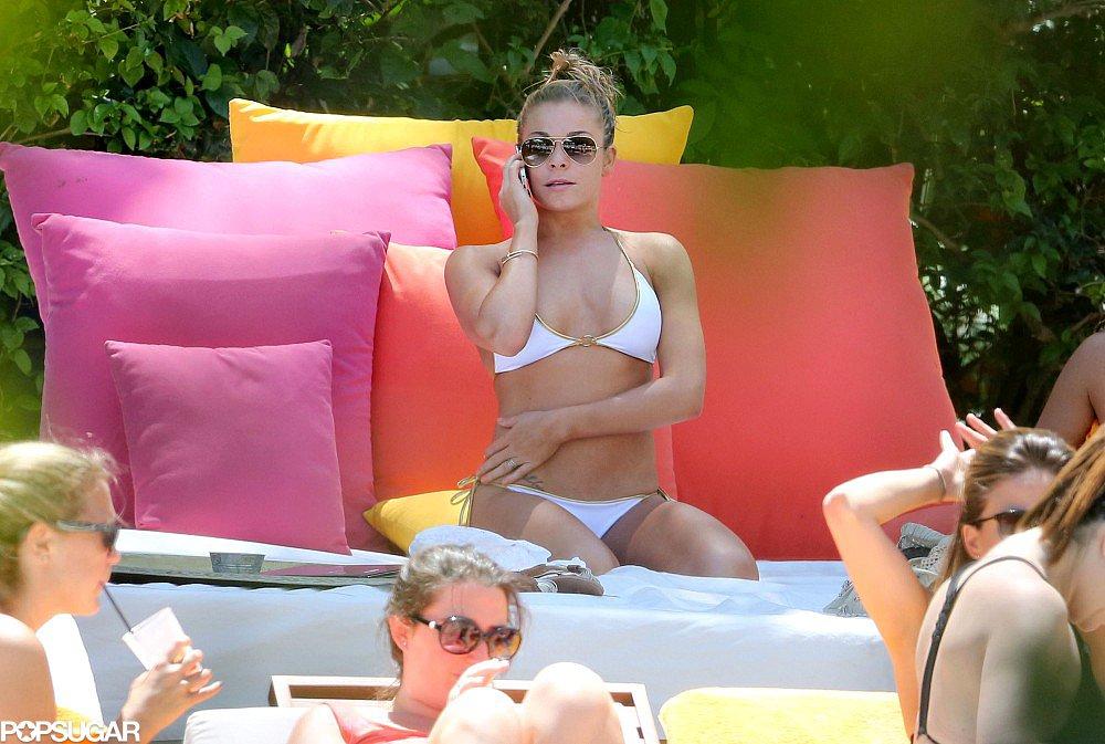 LeAnn Rimes Works a White Bikini During Miami Tour Stop