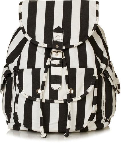 Stripe Denim Backpack