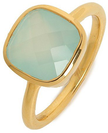 Margaret Elizabeth Chalcedony Cushion Cut Ring