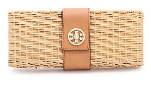 Tory burch Lacquered Rattan Clutch