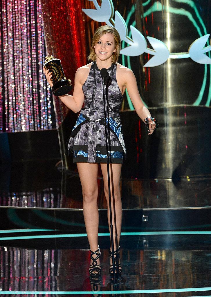 Emma Watson took home the golden popcorn in 2012.