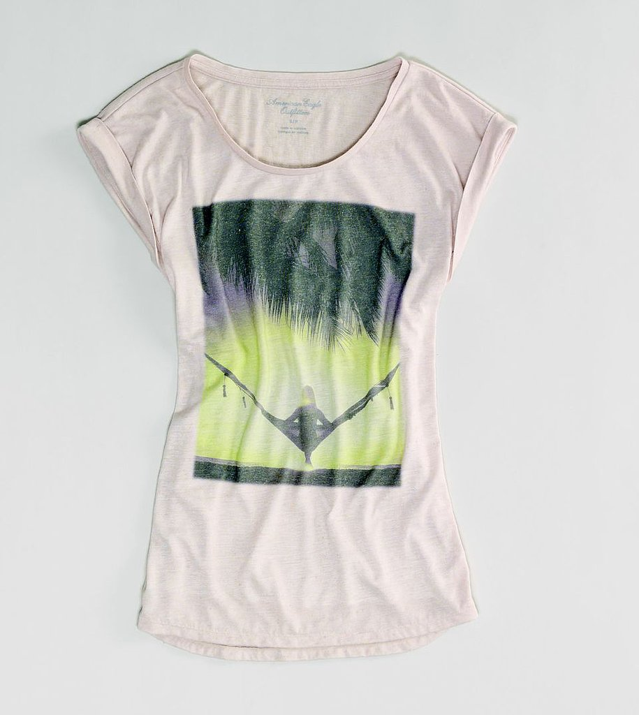 This American Eagle Photo Real T ($25) is just waiting to be taken on a vacation and worn with a pair of loose-fitting printed pants.