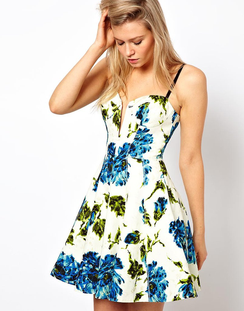The fit is perfectly retro and just a little sexier on this ASOS full-circle floral dress ($108).
