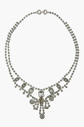 TOM BINNS Black Diamond Crystal Madame Dumont Necklace