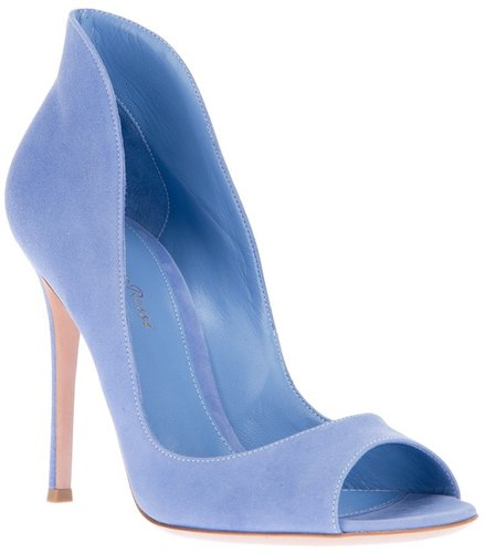 Gianvito Rossi peep-toe pump