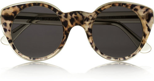 Illesteva + Zac Posen cat eye acetate sunglasses