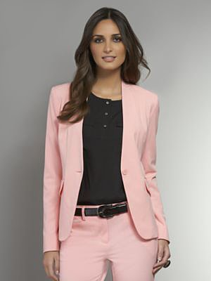 The Crosby Street Double Stretch Collarless Jacket