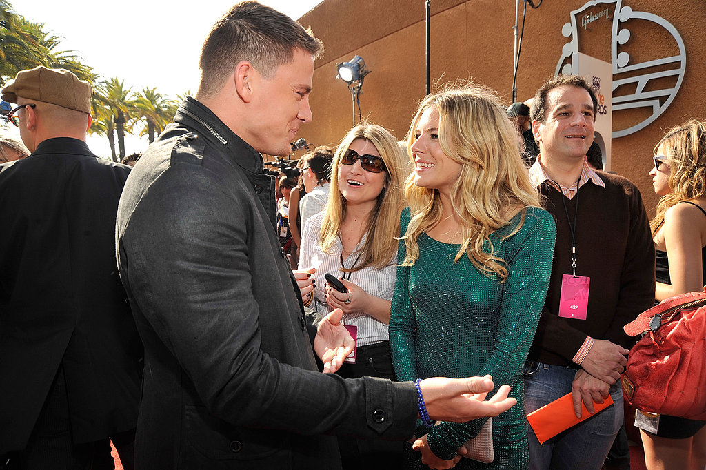 Channing Tatum and Sienna Miller laughed on 2008's red carpet where they were on hand to promote G.I. Joe.