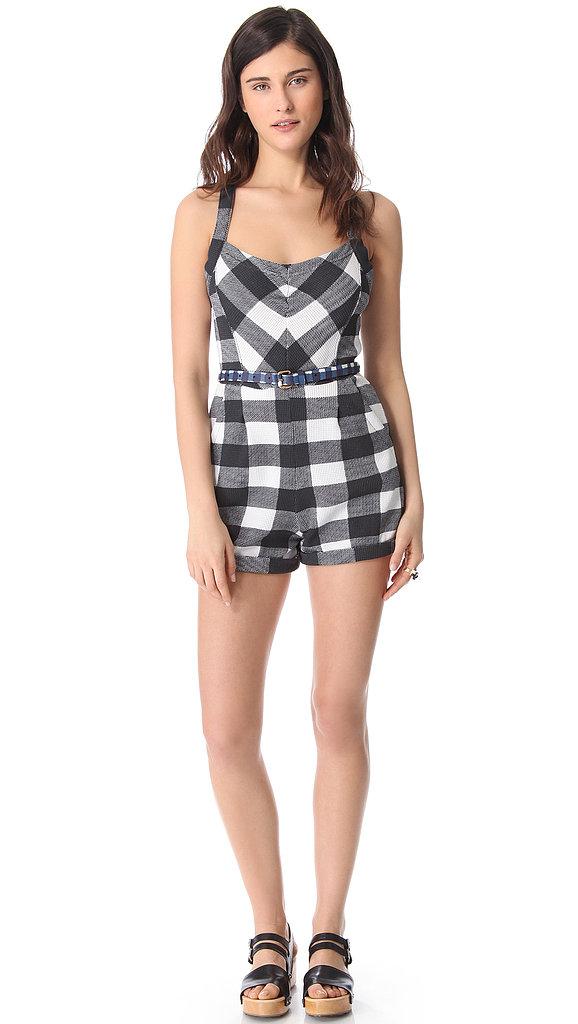 Marc by Marc Jacobs Harry checked thermal romper ($198) supplies us with something sexy, classic, flirty, and kitschy all in one go. But what we love is that you can add an extra dose of dynamic with a colorful skinny belt.