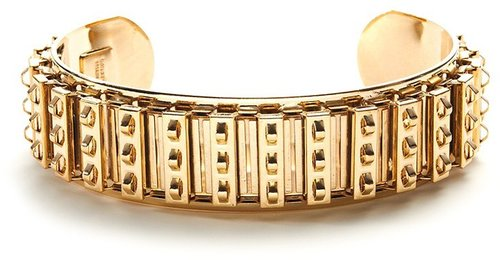 Courtney Lee Gold Studded Gear Cuff