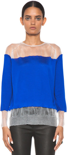 Stella McCartney Floating Classic Jumper in Cobalt