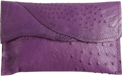 Deborah Barnet Sauvage Ostrich Catch All Clutch