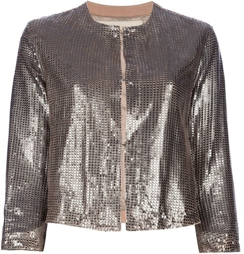 Drome shiny cropped jacket