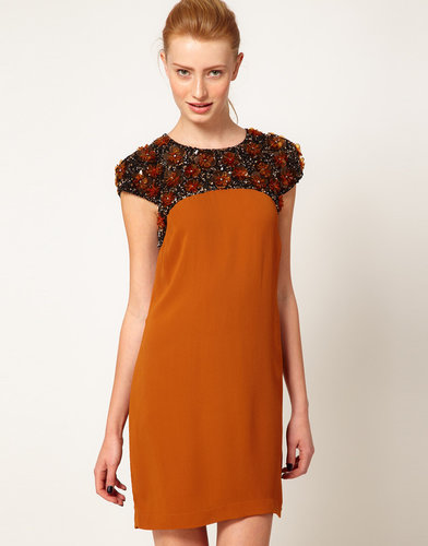 French Connection Embellished Panel Shift Dress