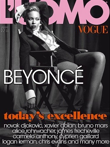Beyoncé on the July/August 2011 cover of L'Uomo Vogue.