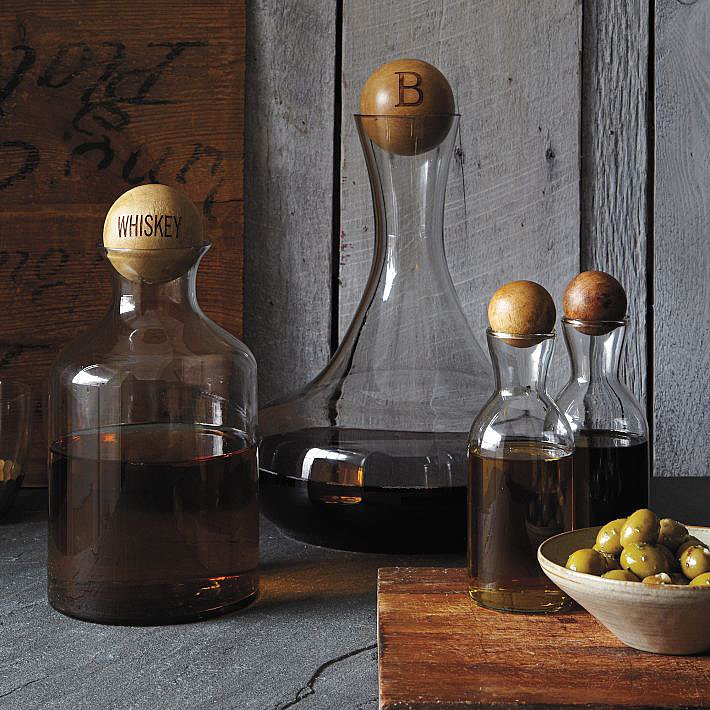 Glass Whiskey Bottles and Decanters
