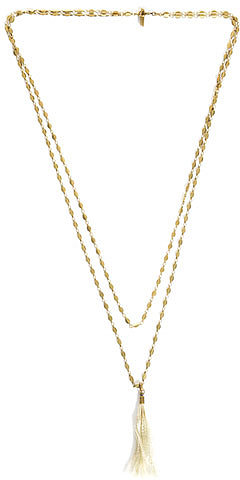 Isabel Marant Double layer tassel necklace