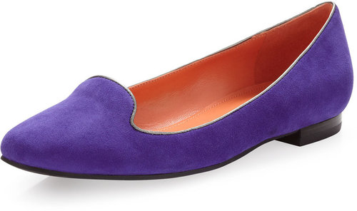 Via Spiga Edina Smoking Slipper, Violet
