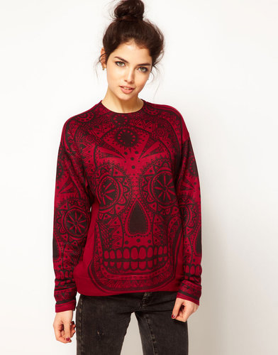 Illustrated People Skull Sweatshirt