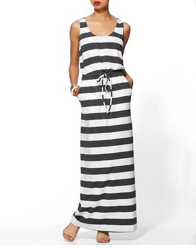 Hive & Honey Striped Knit Maxi Dress