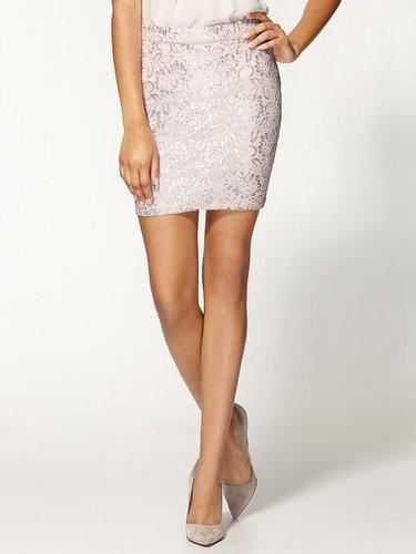 Tinley Road Metallic Lace Mini Skirt