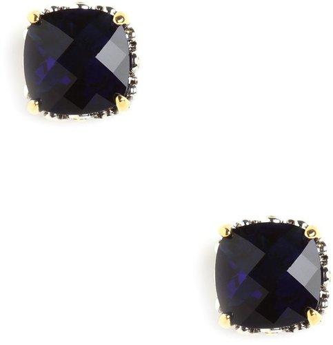 Sapphire Cushion Cut Studs