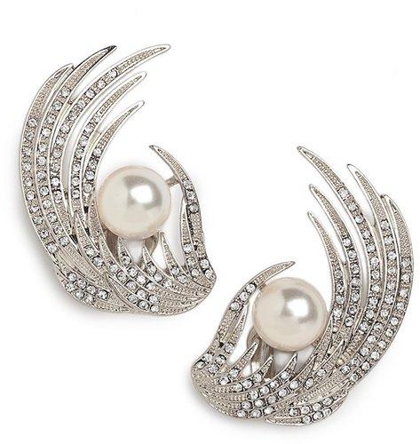Silver Cassiel Ear Cuffs