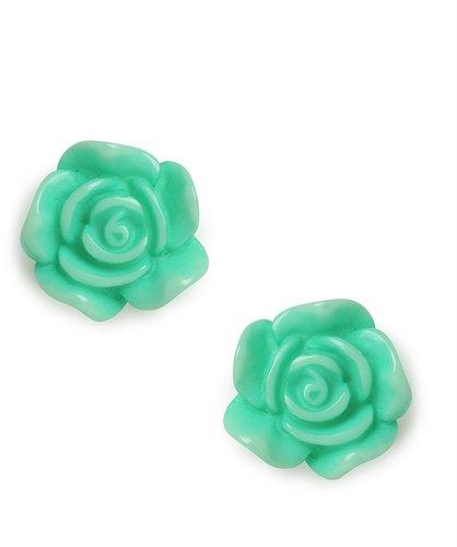 Mint Rose Studs