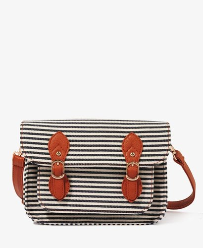 FOREVER 21 Striped Buckled Crossbody