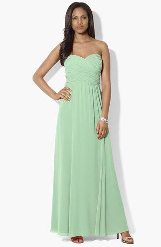 Lauren Ralph Lauren Pleated Georgette Gown