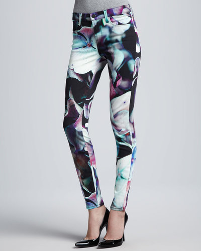 J Brand Jeans Printed Super Skinny Jeans