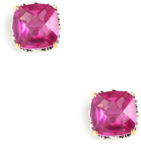 Fuchsia Cushion Cut Studs