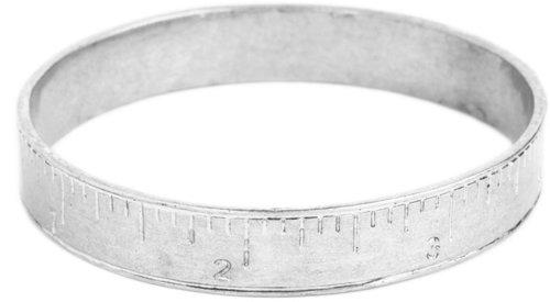 Silver Ruler Bangle