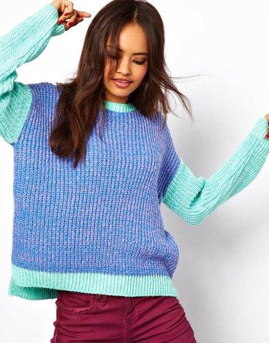 ASOS Sweater In Color Block